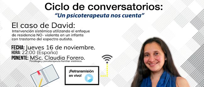 CLAUDIA FORERO E L'AFFASCINANTE CASO DI DAVID IN 'LO PSICOTERAPEUTA RACCONTA'